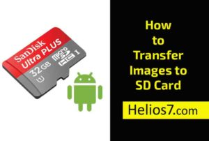 transfer photo to sd card