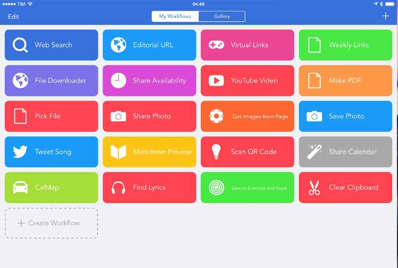 workflow app iphone