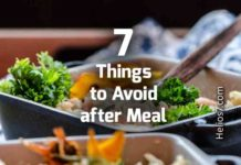 things to avoid after meal
